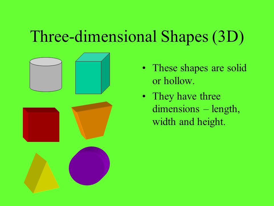 Three-dimensional Shapes (3D)