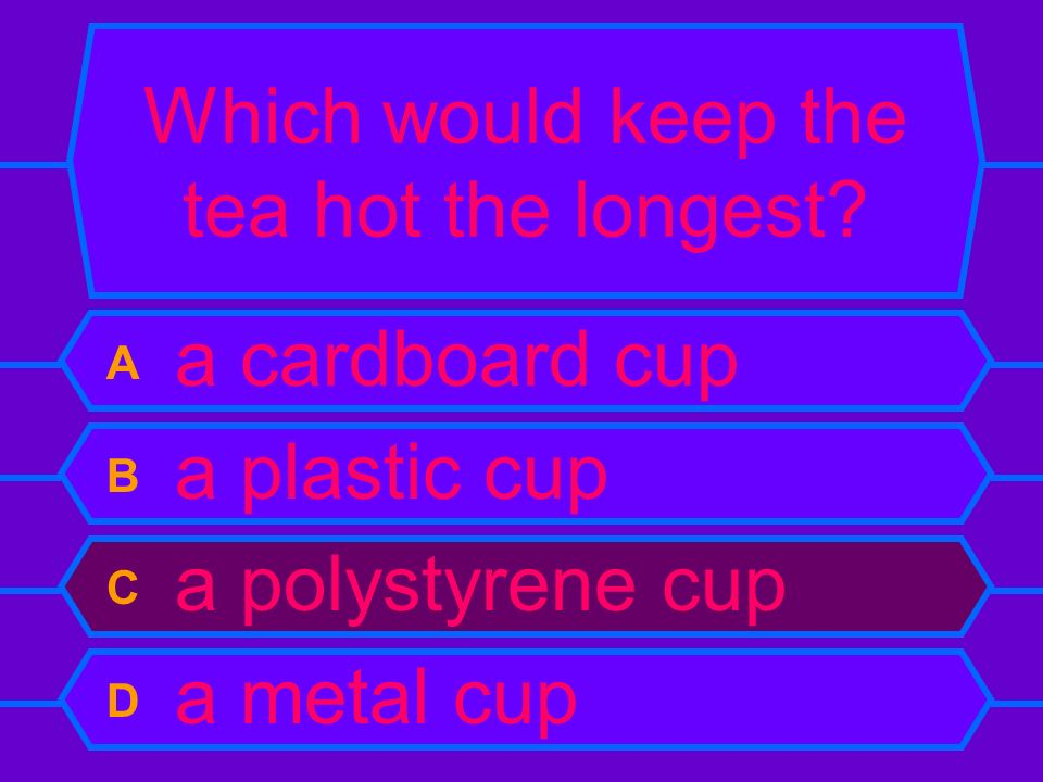 Which would keep the tea hot the longest