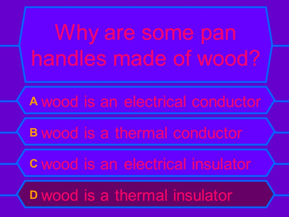 Why are some pan handles made of wood