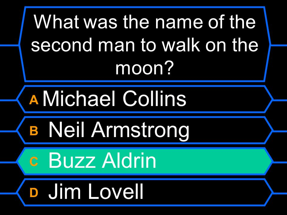 What was the name of the second man to walk on the moon