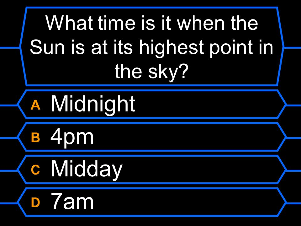 What time is it when the Sun is at its highest point in the sky