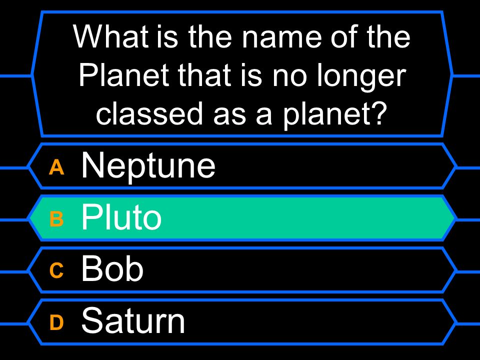 What is the name of the Planet that is no longer classed as a planet