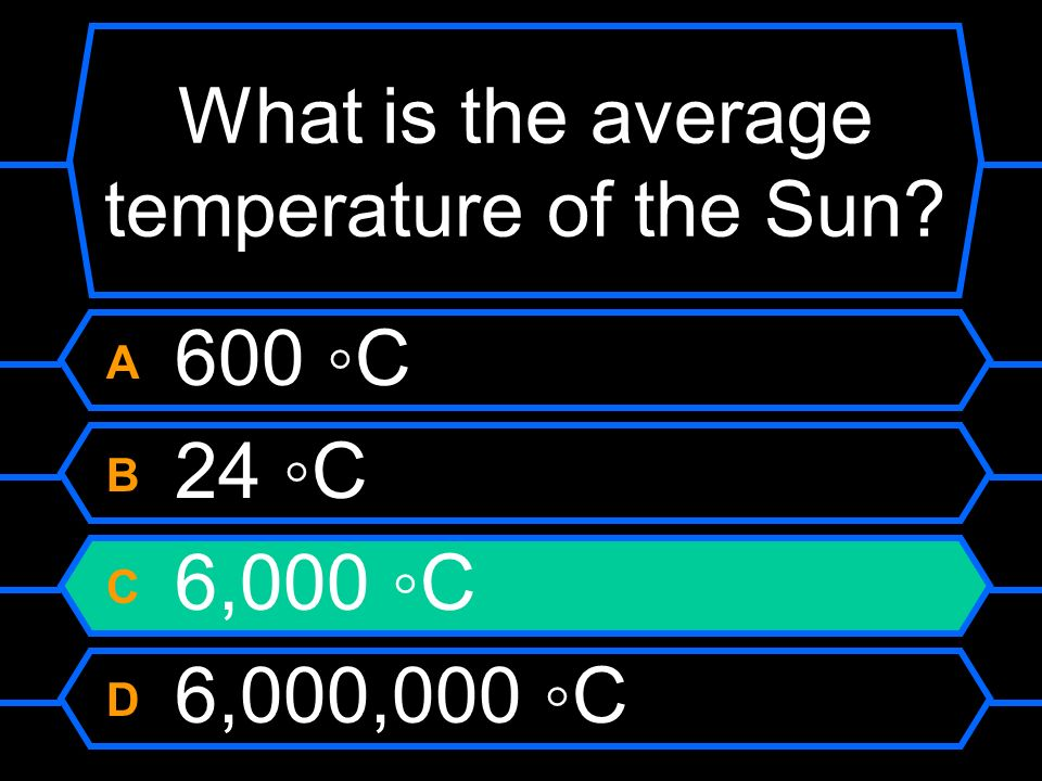 What is the average temperature of the Sun