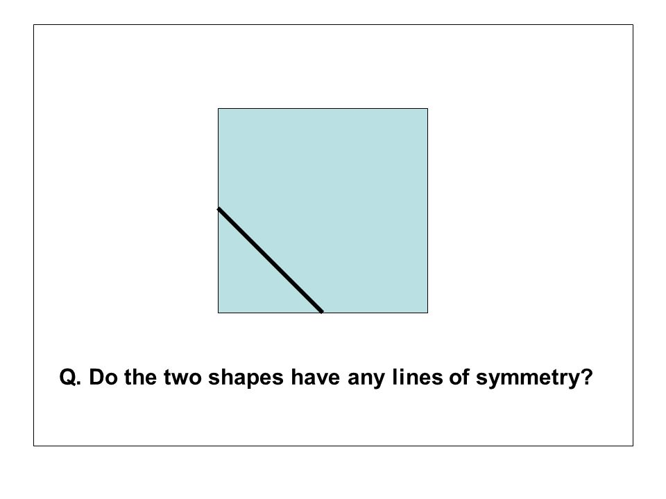 Q. Do the two shapes have any lines of symmetry