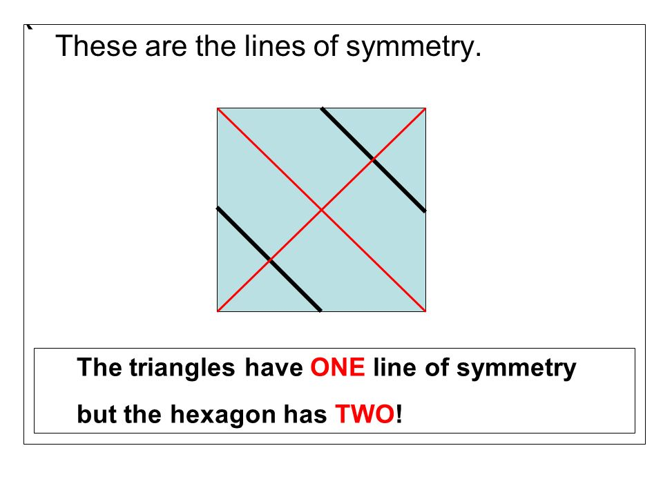 ` These are the lines of symmetry.