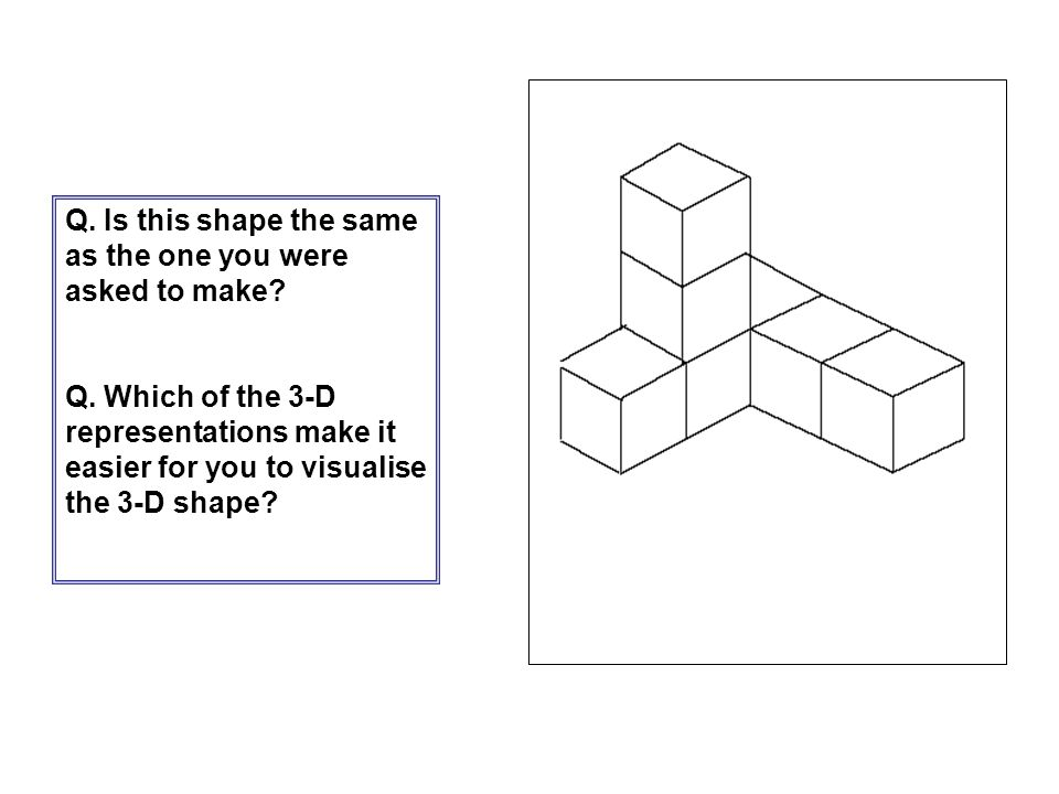 Q. Is this shape the same as the one you were asked to make