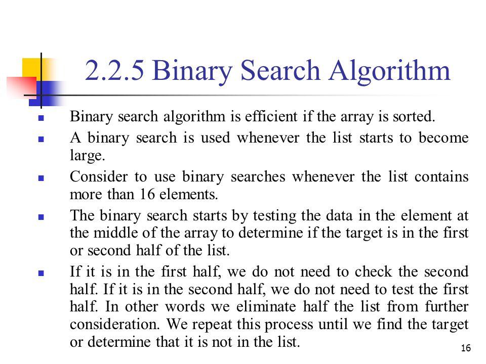 Binary search not found