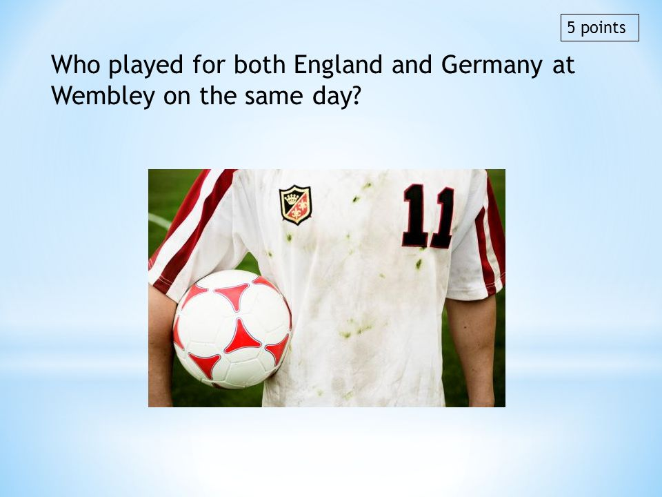 Who played for both England and Germany at Wembley on the same day