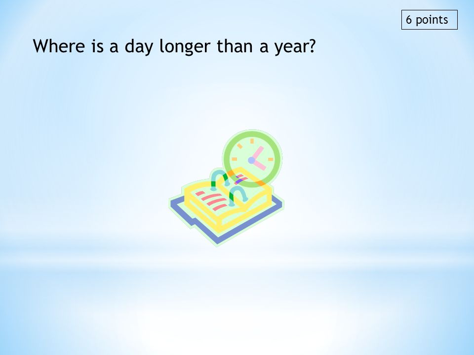 Where is a day longer than a year