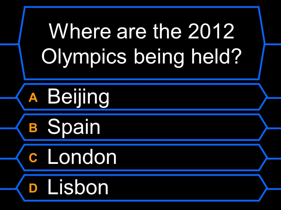 Where are the 2012 Olympics being held