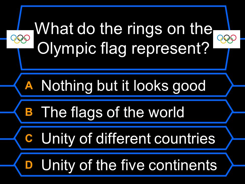 What do the rings on the Olympic flag represent