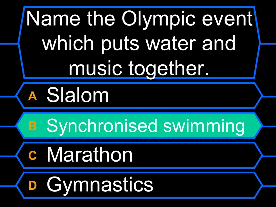 Name the Olympic event which puts water and music together.