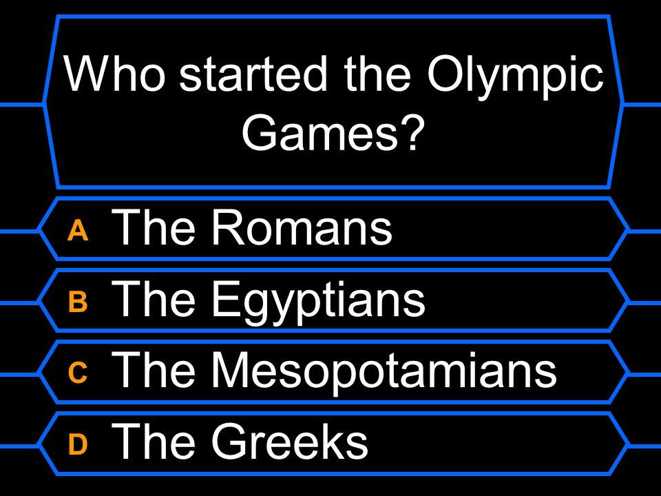 Who started the Olympic Games