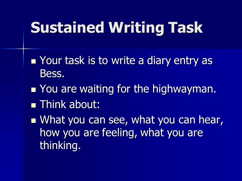 Sustained Writing Task