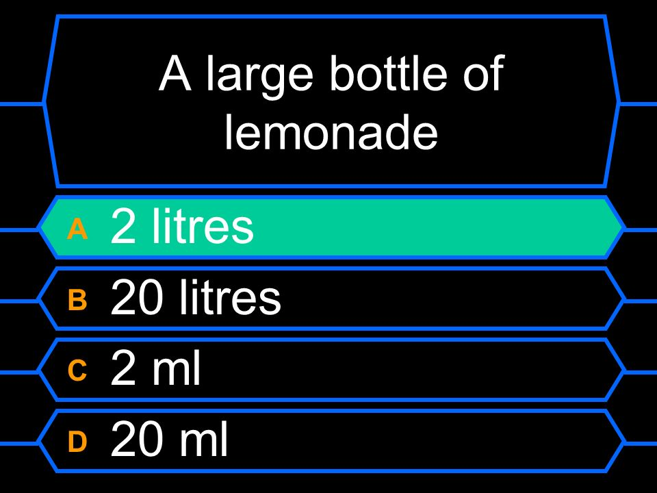 A large bottle of lemonade