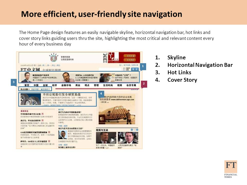 More efficient, user-friendly site navigation