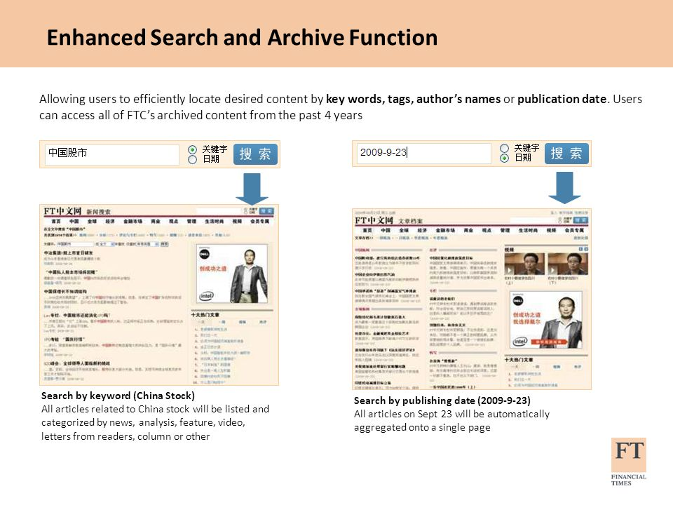 Enhanced Search and Archive Function