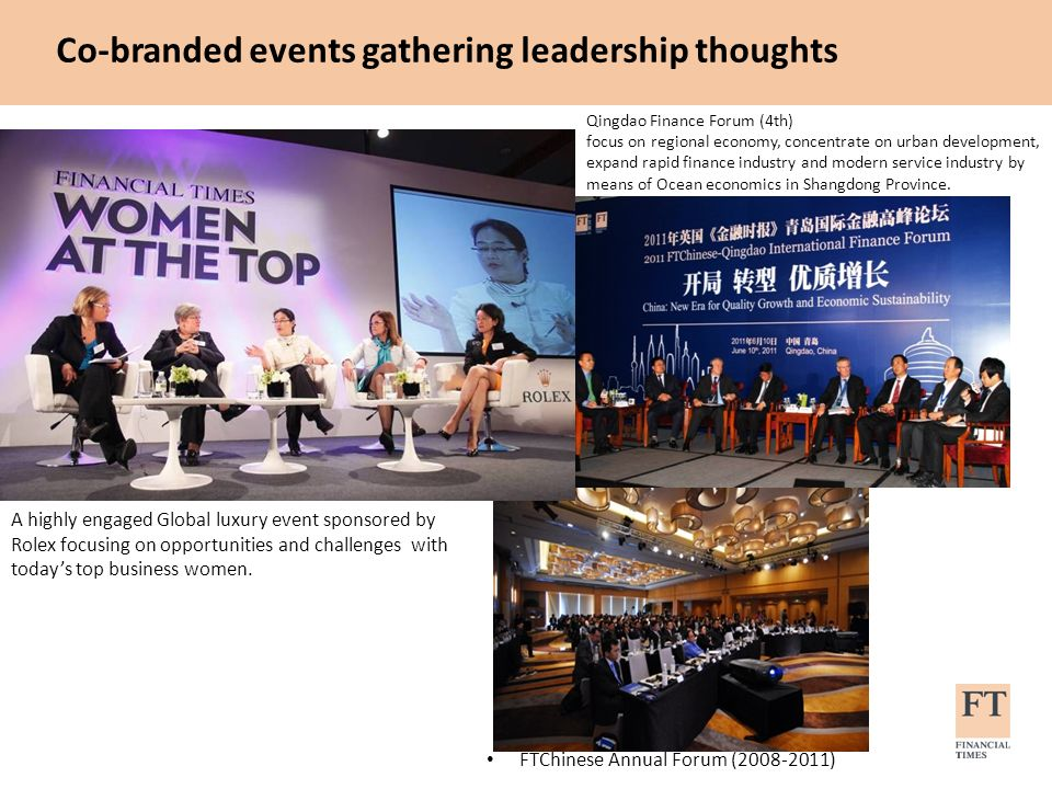 Co-branded events gathering leadership thoughts