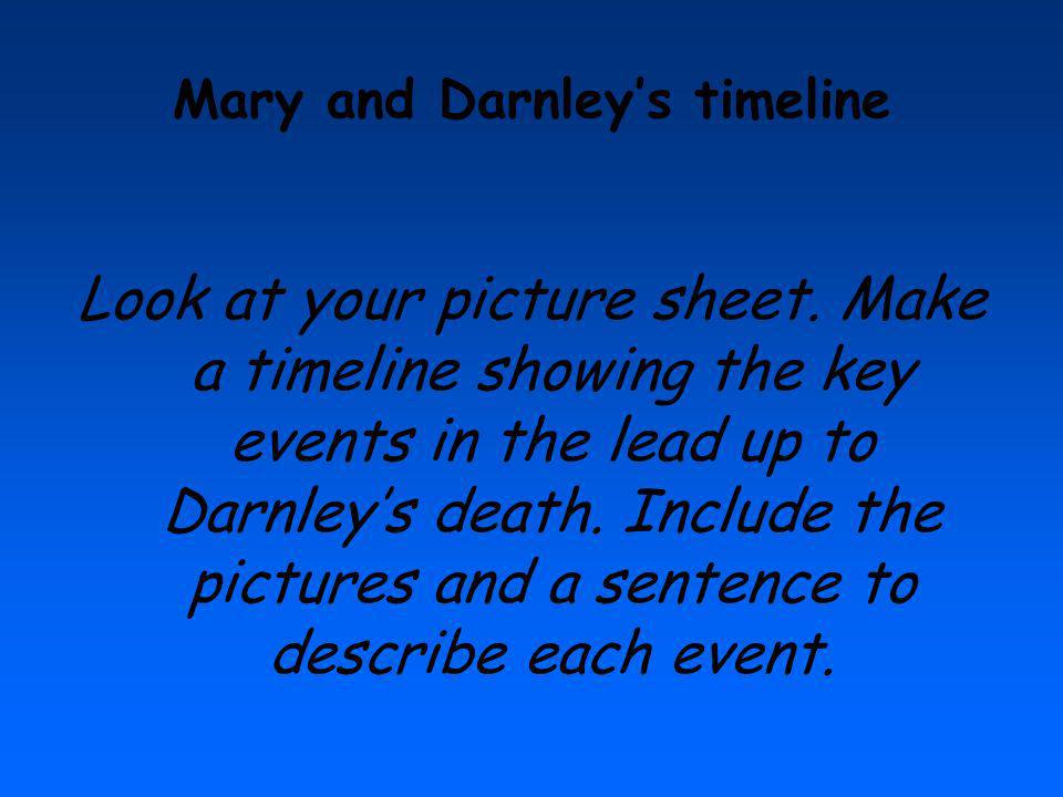 Mary and Darnley's timeline
