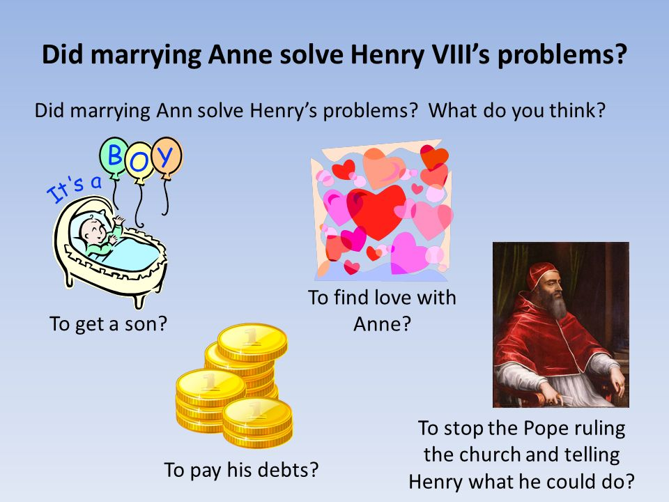 Did marrying Anne solve Henry VIII's problems