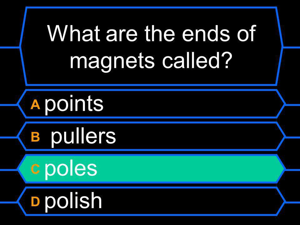 What are the ends of magnets called