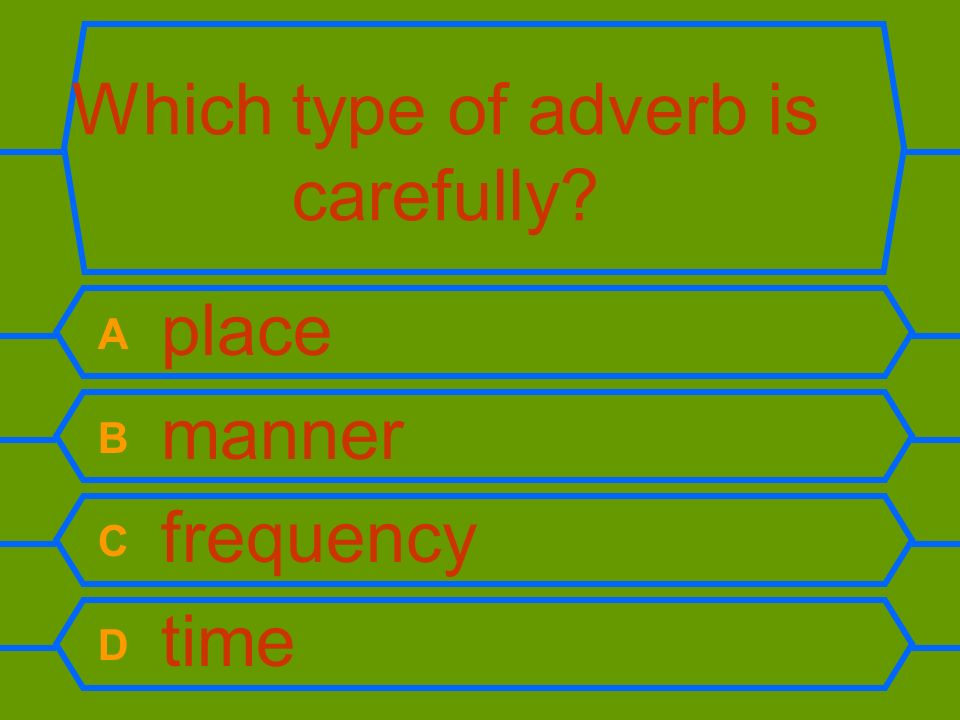 Which type of adverb is carefully