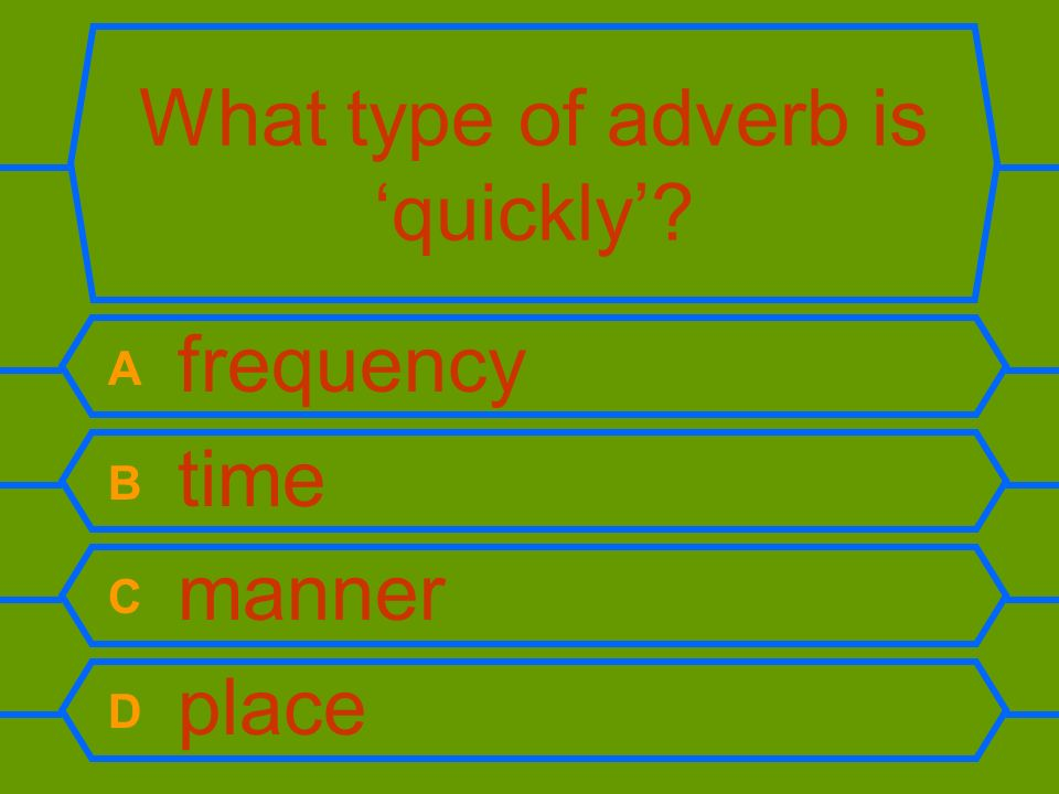 What type of adverb is 'quickly'