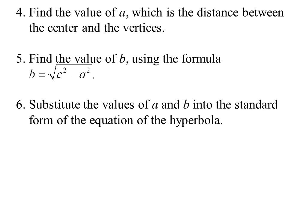 4. Find the value of a, which is the distance between