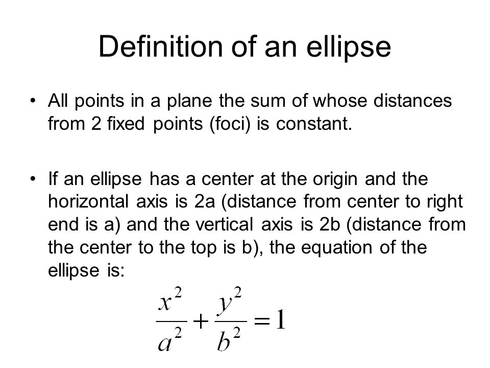 Definition of an ellipse