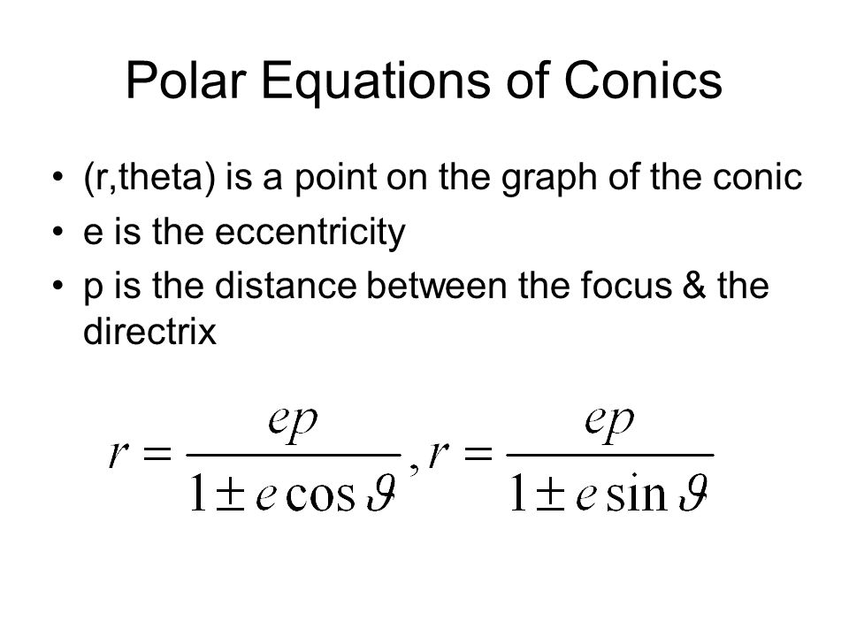Polar Equations of Conics