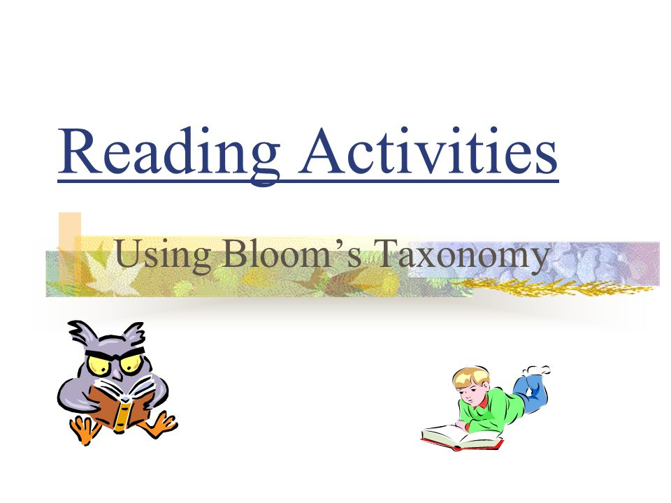 Using Bloom's Taxonomy