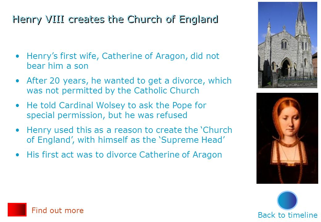 Henry VIII creates the Church of England
