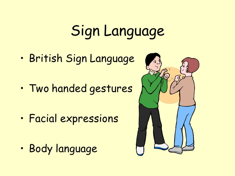 Sign Language British Sign Language Two handed gestures