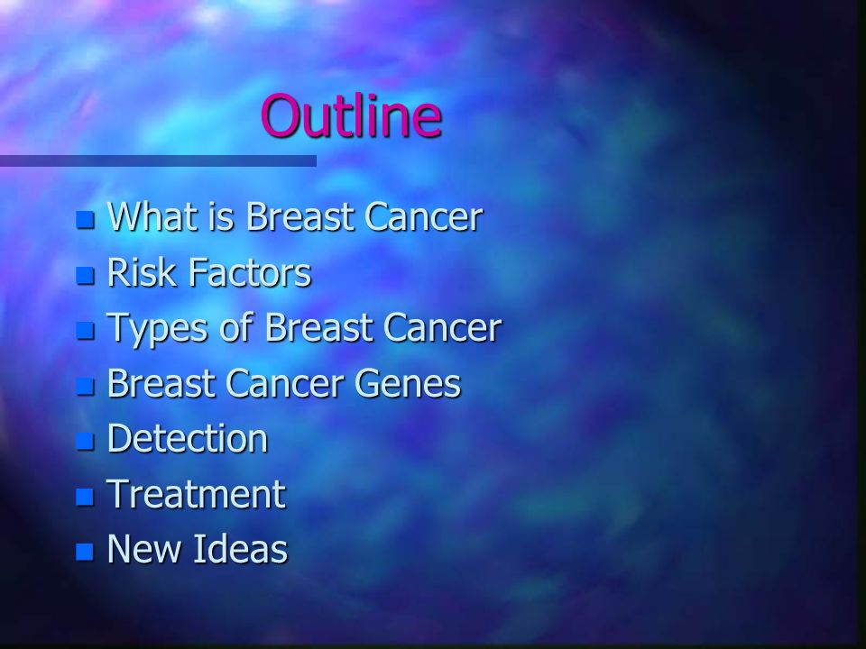 outline for research paper on breast cancer