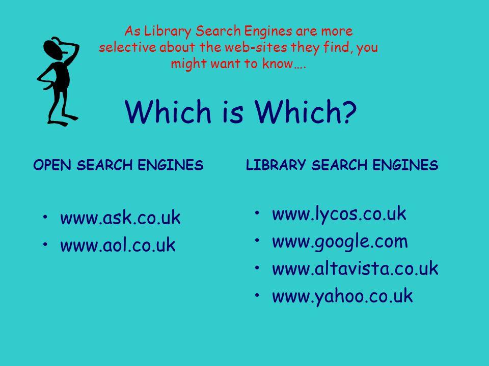 LIBRARY SEARCH ENGINES