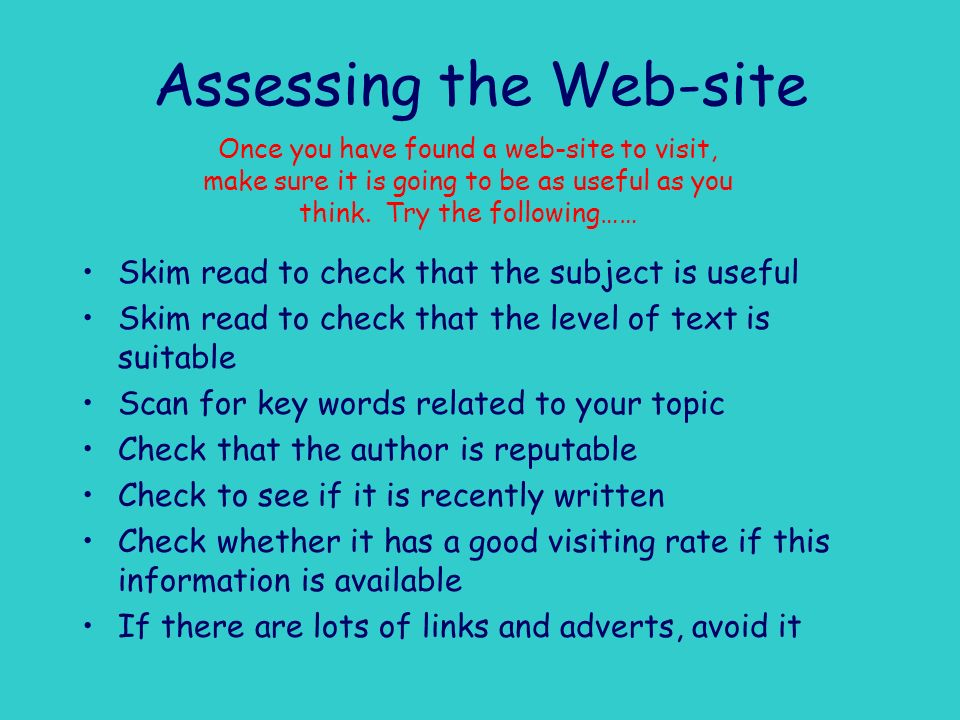 Assessing the Web-site
