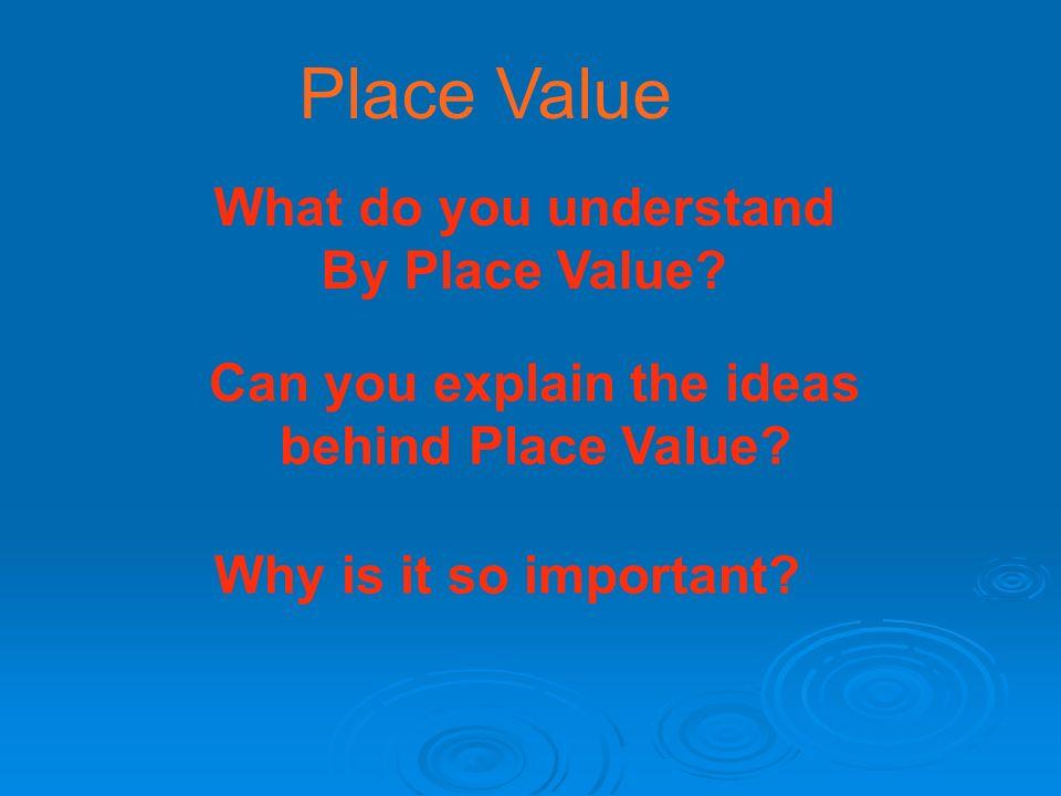 Can you explain the ideas