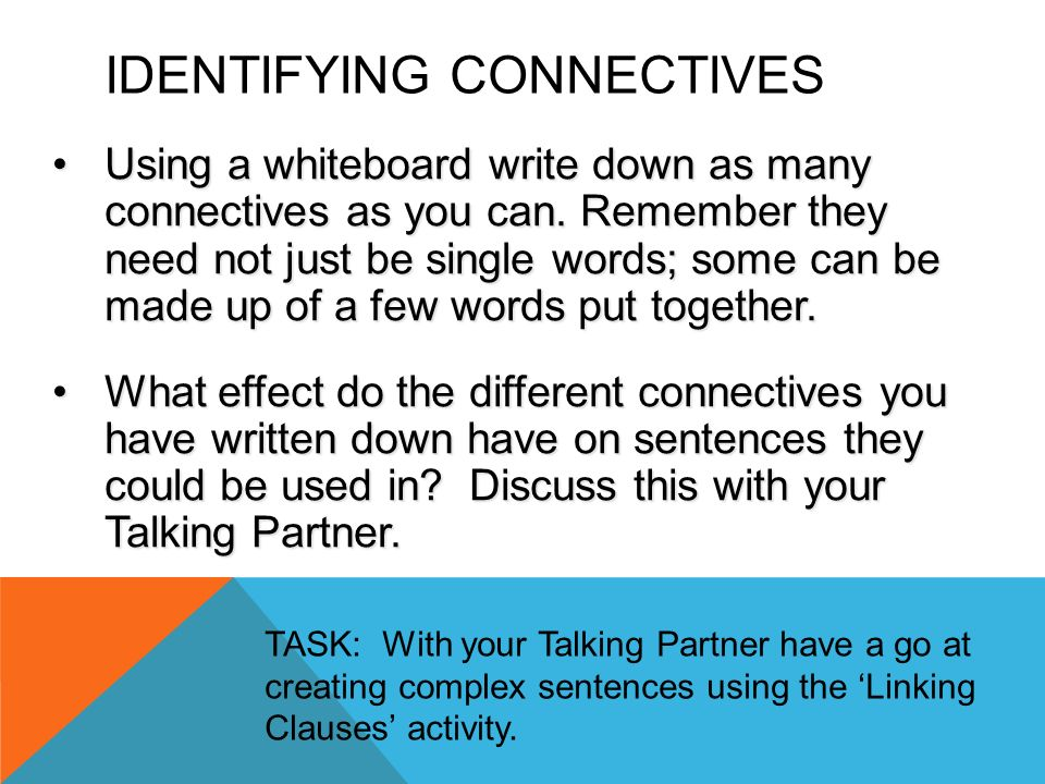 Identifying Connectives