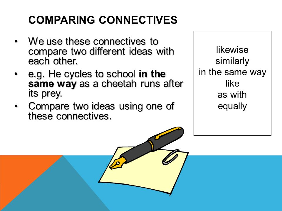 Comparing CONNECTIVES