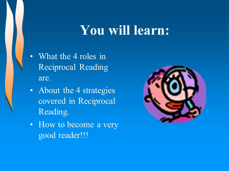 You will learn: What the 4 roles in Reciprocal Reading are.