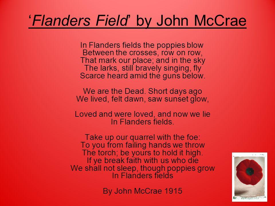 'Flanders Field' by John McCrae