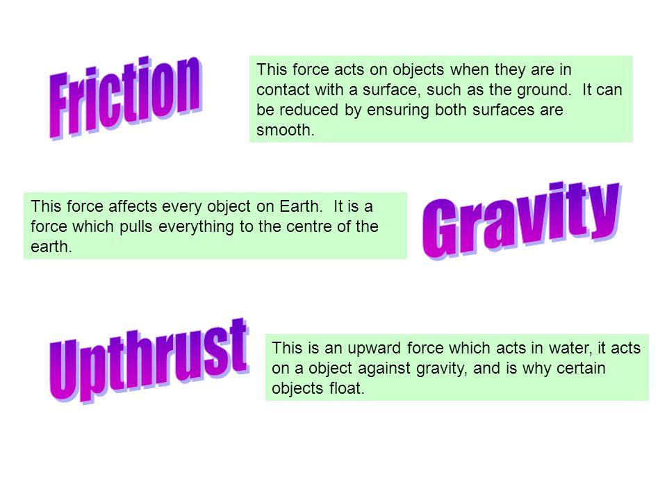 Friction Gravity Upthrust