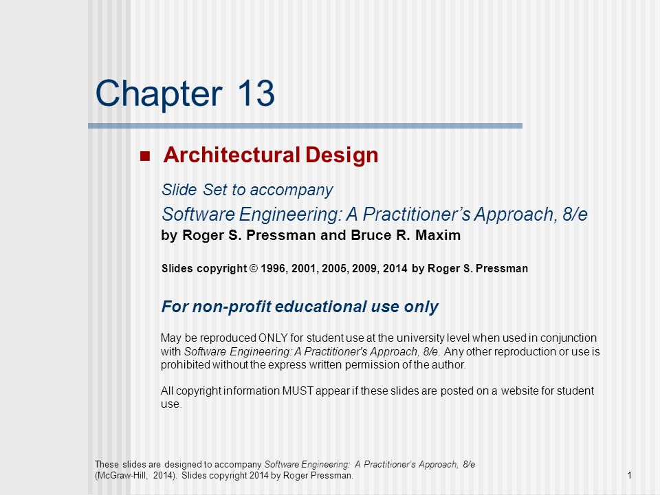 Chapter 13 Architectural Design