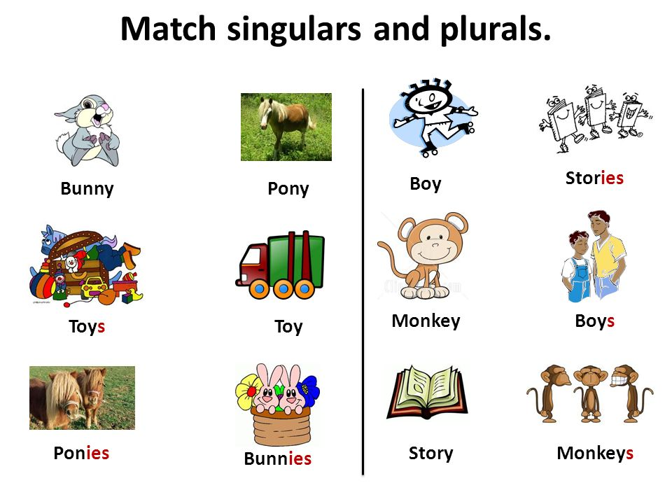 Match singulars and plurals.