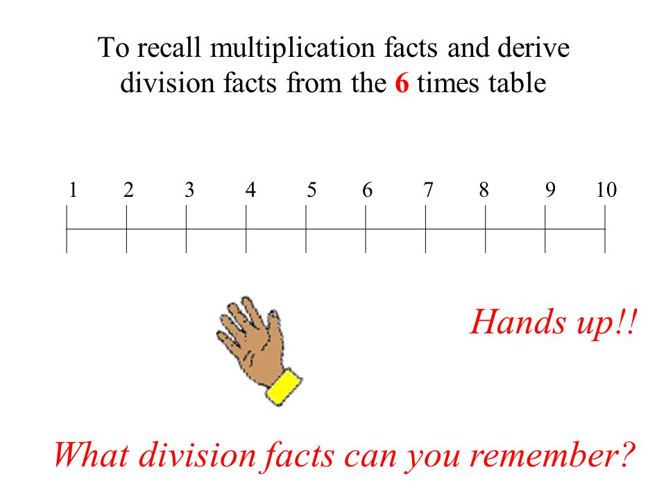 What division facts can you remember