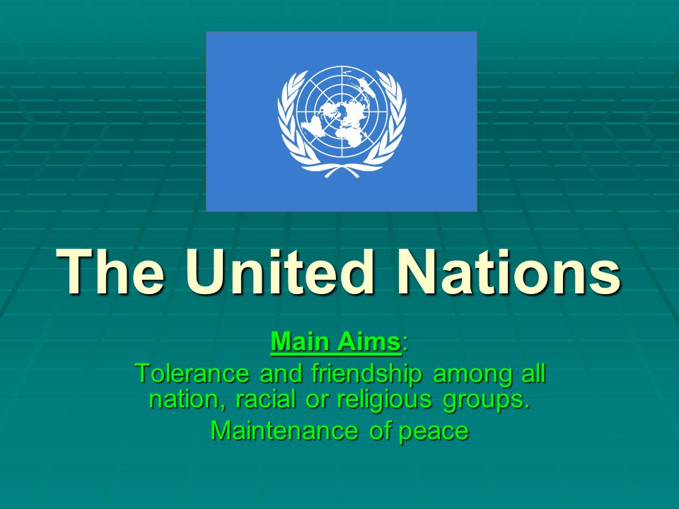 Tolerance and friendship among all nation, racial or religious groups.