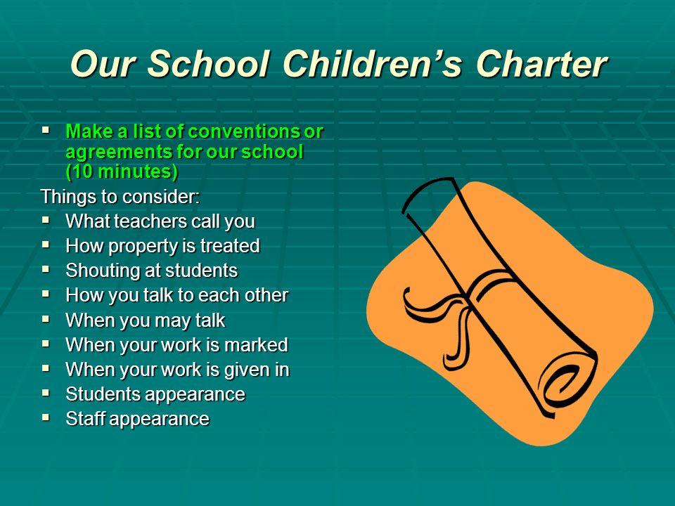 Our School Children's Charter