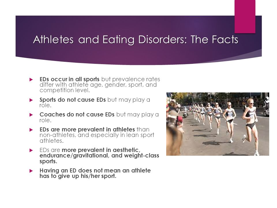 prevalence of women athletes and eating The female athlete triad is prevalent in women who participate in sports that emphasize aesthetics or leanness additionally, disordered eating is also found at a much higher rate in these athletes than in the general population.