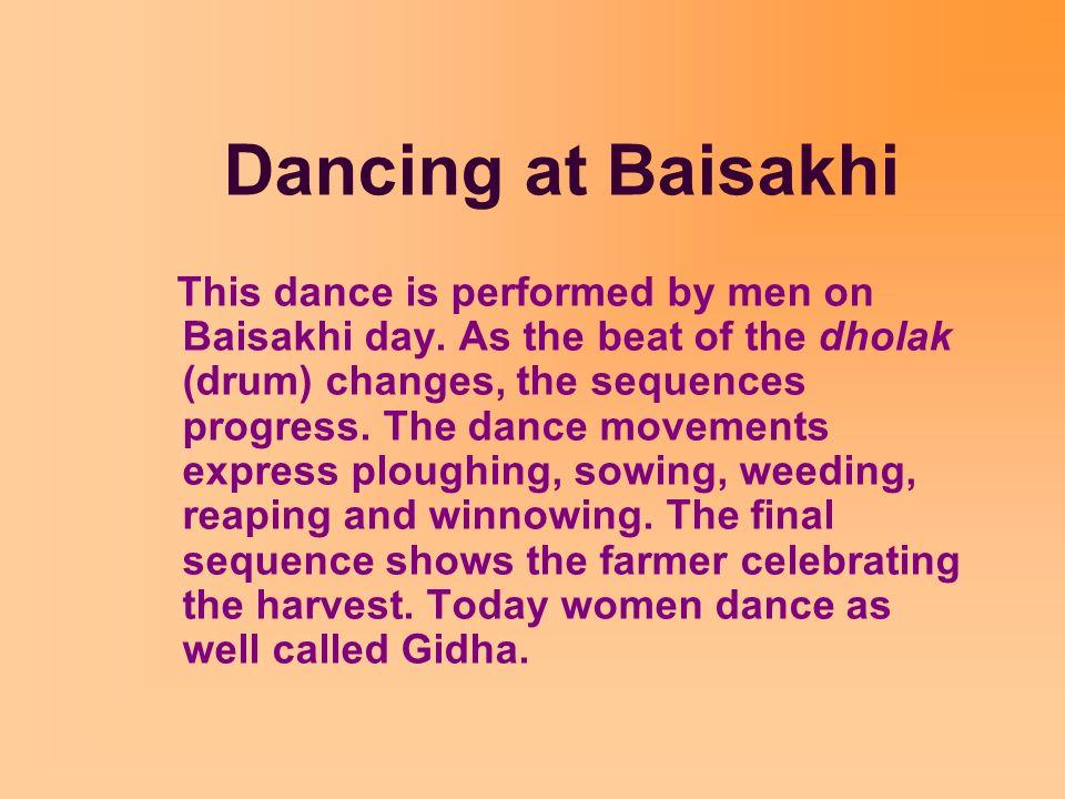 Dancing at Baisakhi