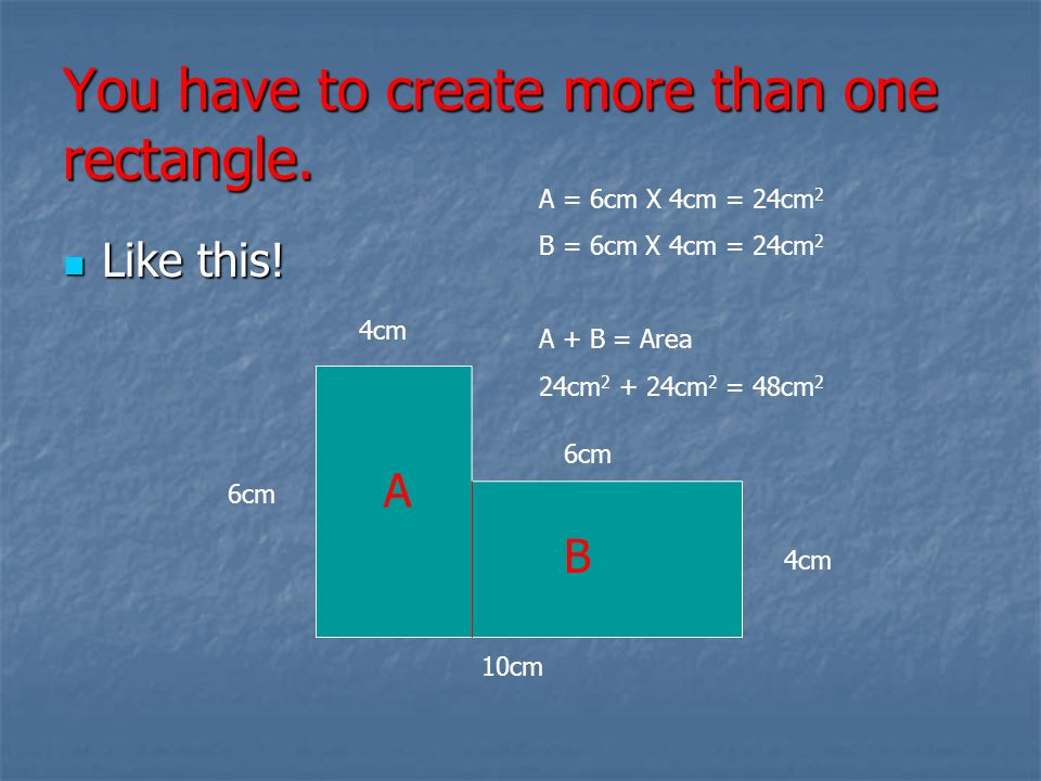 You have to create more than one rectangle.